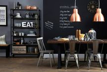 We Love Dark Spaces / Dark living and dining, offices, kitchens and bedrooms Navy and grey, dark and cool!