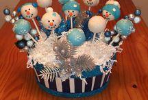 Christmas cake pop