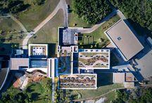 Wineries | Bodega Garzón / Proyecto: Eliana Bórmida y Mario Yanzón, arquitectos. 2016. Superficie cubierta: 15.240 m2. Capacidad de elaboración: 2.200.000 litros. Garzón, Maldonado – Uruguay