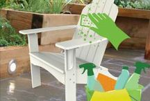How to Clean Plastic Adirondack Chairs for your Patio.