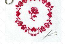 Wreath style simple cross stitch ideas