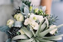 Wedding Inspiration / If you are looking for something a bit more striking and architectural than traditional wedding flowers, then take a look at tillandsias.