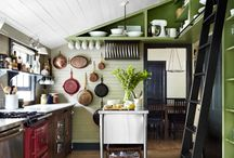 Kitchen / I love modern vintage style - mixing styles - old and new