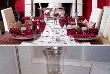Decoración navideña. mesa, comedor. / imágenes de diseño y decoración para época de navidad. / by Diego Bermudez
