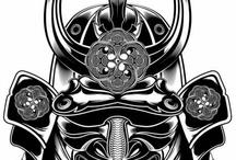 Samurai Mask / by . NEVERTRUSTANYONE .