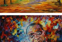 Palette knife paintings / by Sherry Armstrong