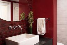 Bathroom - Mood Board - Red