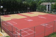 Multi-Sport Surfaces, Graphics and Games / We can build or convert an existing court to accommodate a variety of activities. Tennis Courts, Basketball Courts, Graphics and Games.