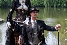 Steampunk/Goth Couple