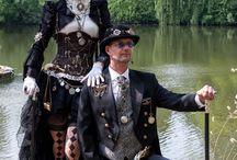 Steampunk/Goth Couple