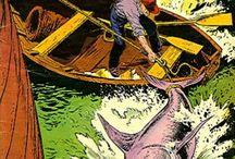 Fishing -- Comics / by GCD Grand Comics Database