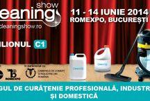 CLEANING SHOW LA ROMEXPO / Cea mai mare expozitie destinata curateniei profesionale, industriale si domestice din Romania se va desfasura intre 11-14 iunie 2014, la Romexpo! Ajuns la cea de-a V-a editie, Cleaning Show lanseaza o invitatie de nerefuzat care garanteaza evolutia in afaceri pentru firmele din domeniu. Evenimentul este organizat de EUROEXPO si ROMEXPO si se va desfasura in Pavilionul C1.  / by Romexpo Bucuresti