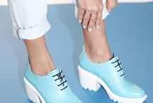 White Soles / White Shoes / SS14 Trend : shoes with clashing white soles or all white shoes
