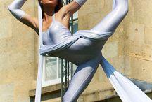 Aerial silk moves