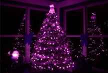 Purple Christmas Tree Lights / If you love this color then you will find purple Christmas tree lights very effective, both outdoors and indoors.