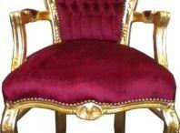 Barock & Antik Stil Stühle / Luxus Sitzmöbel in allen Farben und Ausführungen