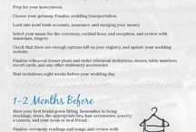 Wedding Timeline and Checklists