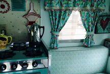 Retro caravan interiors