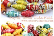 DIY Perles papier, Paper bead