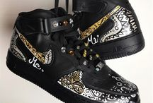 Custom shoes hand-painted shoes / custom shoes, custom high heels, custom sneakers, hand-painted shoes, handpainted shoes,