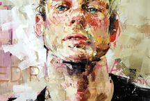 Andrew Salgado Artist / This is the first artist I've seen do portraits of mainly men. Interesting..