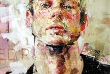 Portrait man / Oil