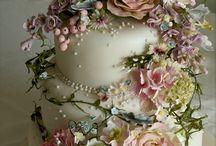 Vintage esküvői torták