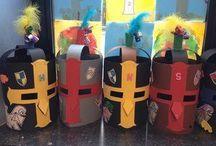 Thème : Les châteaux - Enseignement préscolaire / Des trucs, idées, concepts à utiliser en maternelle sur le thème des châteaux, chevaliers, rois et reines, princesses, dragons, etc...