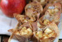 Pies / tarts / Wonton Apple tarts