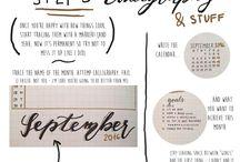 Bullet Journal - Calligraphy