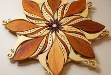 flori din lemn