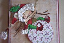 Kreatives für Weihnachten und Silvester / Diverse Karten Gestaltungen, Alben, Scrapbooking und Dekorationen für Weihnachten und Silvester Selbe rmachen.
