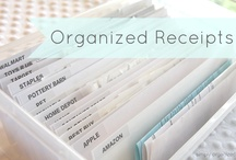 organize receipts