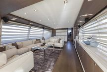 Ferretti Yachts 870 Interior Design / Discover the #Interior #Design #MadeInItaly on board of the Ferretti #Yachts 870