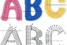 letras tejidas crochet