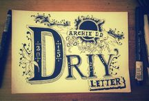 Lettering by Archie / Having fun with letters