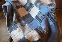Tepper av gamle strikkeplagg
