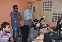 Workshop on Editing with Shweta Venkat / Workshop on Movie Editing was conducted by one of the most popular and sought-after editor of the film industry, Shweta Venkat. The workshop was specially organised for the senior students to understand and get hands-on experience on various nuances of editing different audio-visual format. Shweta Venkat as an independent editor had edited feature films like Hasee Toh Phasee, Gangs of Wasseypur and That Girl in Yellow Boots.