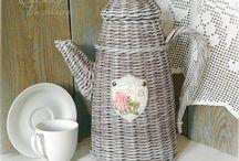 кофейник плетение