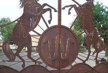 Equestrian gates