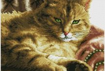 Кошечки схемы крестиком