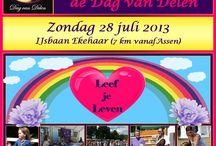 """28 juli De Dag van Delen! / Zondag 28 juli vindt voor de 4e keer het bewustzijnsfestival """"de Dag van Delen"""" plaats in Ekehaar! Een dag om met mij en met gelijkgestemde collega's kennis te maken via leuke Workshops/Lezingen/Klankschalen en nog veel meer. Jij komt toch ook?  Website: www.dedagvandelen.nl"""