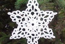 Crochet stars and snowflakes