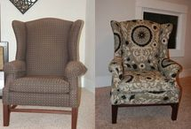 Reposter wing back chair