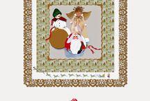 Christmas, 2014 Countdown calendar / free daily artwork posted on my blog, A Scrapbook of Inspiration.  A Christmas Countdown Calendar http://karenharveycox.blogspot.com