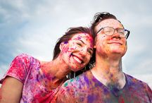 Holi Powder Engagement Session / A fun, colorful engagement shoot!