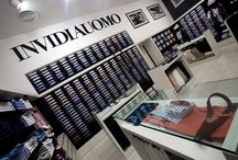 Invidia Uomo  / Custom-tailored furniture for franchising stores in Piedmont and Lombardy