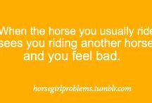 Horse girl problems