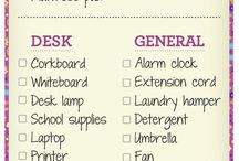 Organize for College Life! / Those dorm rooms are small! Let's keep them organized...