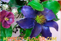цветы из х.фарфора